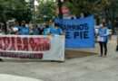 Barrios de Pie se manifestó frente al Palacio Municipal