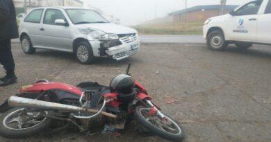 Accidente de tránsito en Ruta 191 e Hipólito Yrigoyen